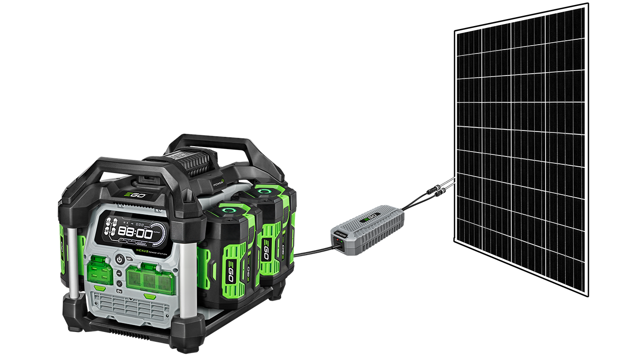 POWER+ Nexus Solar Panel Charger attached to PST3040 Nexus Power Station