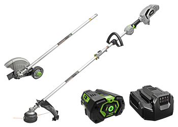 "Power+ Multi-Head Combo Kit: 15"" String Trimmer,  8"" Edger  & Power Head with 5.0Ah battery and standard charger"