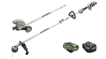 "Power+ Multi-Head Combo Kit; 15"" String Trimmer, 8"" Edger  & Power Head with 5.0Ah battery and standard charger"
