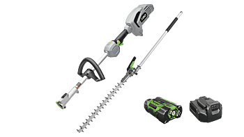 "Power+ Multi-Head Combo Kit; 20"" Hedge Trimmer, Power Head, 2.5Ah battery and standard charger"