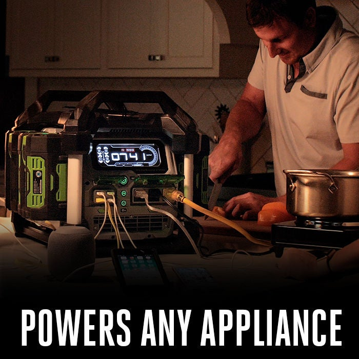 Powers any household appliance