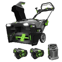 Power+ Snow Blower with Peak Power™ with (2) 5.0Ah batteries and rapid charger