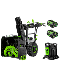 POWER+ 24 in. Self-Propelled 2-Stage Snow Blower with Peak Power™ and (2) 7.5 Batteries and Dual Port Charger