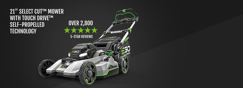 "21"" Select Cut™ Mower with Touch Drive™ Self-Propelled Technology Over 1,800 5-Star Reviews"