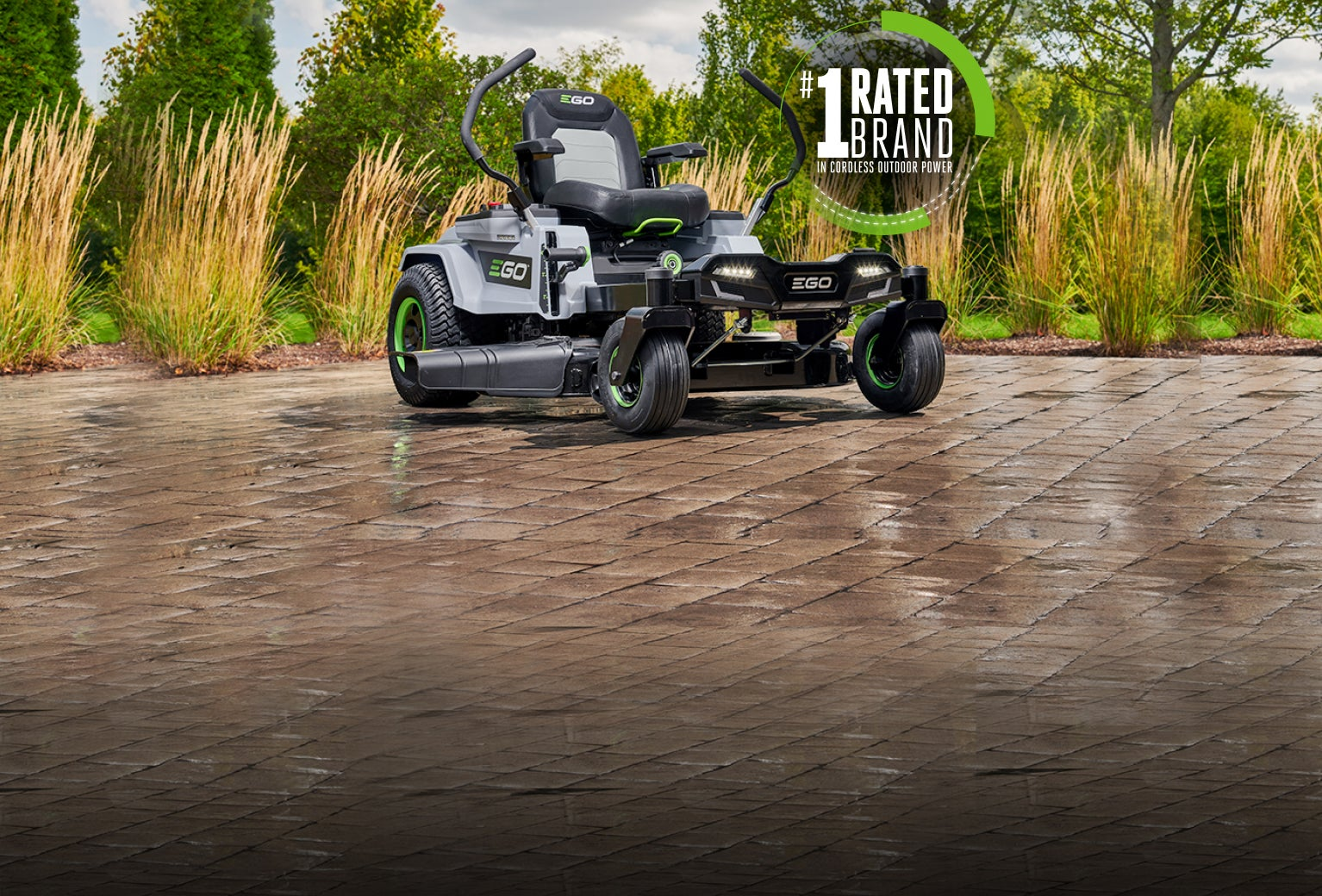 The Z6 Zero Turn Riding Mower on a driveway